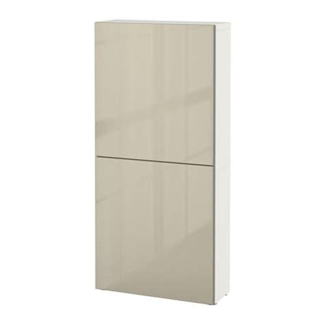 besta hochglanz beige best 197 wall cabinet with 2 doors white selsviken high