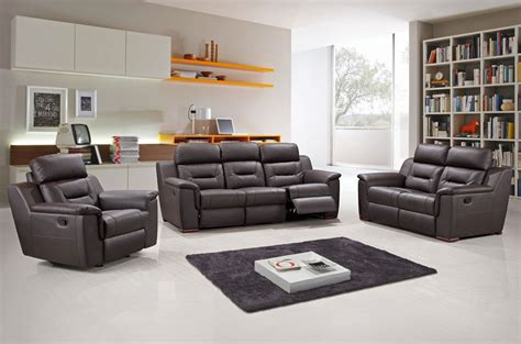 brown leather recliner sofa set sofa ideas recliner sofa sets best home design interior