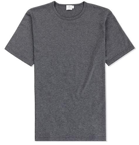 Gray Shirt sunspel s staple cotton classic t shirt in gray