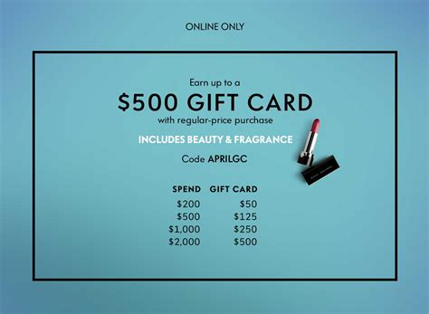 Neiman Marcus Gift Card Event 2013 - neiman marcus earn up to 500 gift card with select beauty purchase
