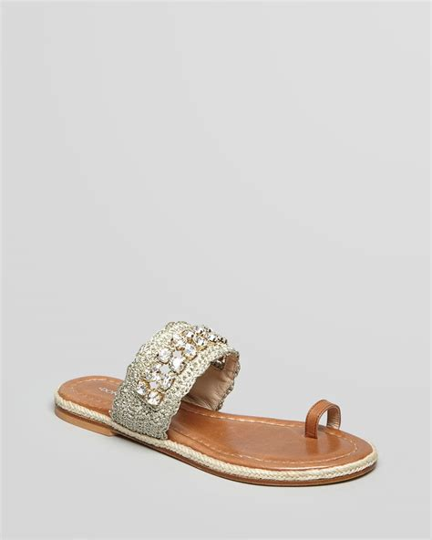 sandals with toe ring donald j pliner flat sandals emmie toe ring in beige