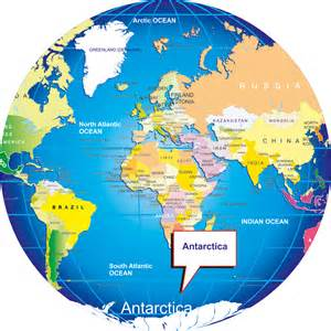 World Map Antarctica by Where Is Antarctica On The World Map And Globe Penguins