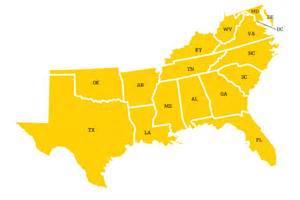 www southern southern region map