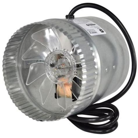 air duct fan home depot suncourt inductor 6 in corded in line duct fan db206c