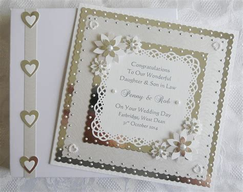 Handmade Wedding Day Cards - wedding day card friends etc with box