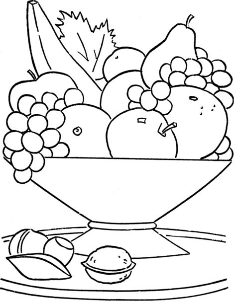 fruit basket image az coloring pages