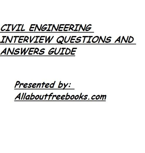 design engineer interview questions and answers pdf civil engineering interview questions and answers guide