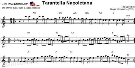 tarantella napoletana testo tarantella napoletana acoustic guitar tab guitarnick
