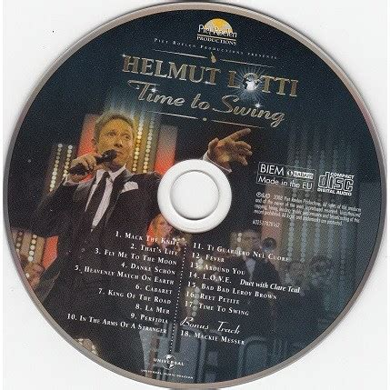 helmut lotti time to swing time to swing by helmut lotti cd with minkocitron ref