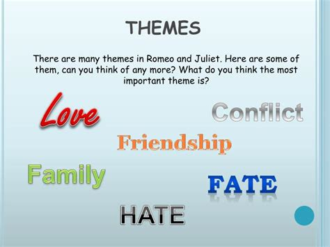 themes in romeo and juliet that are relevant today ppt romeo and juliet powerpoint presentation id 2520434