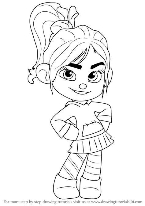 learn how to draw vanellope von schweetz from wreck it