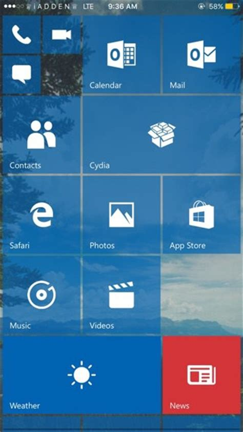 themes for windows 10 mobile tip make ios look like windows 10 mobile with redstone tweak