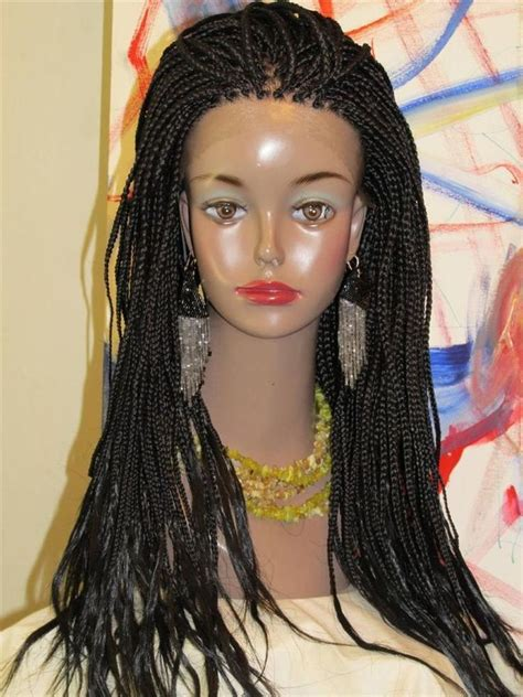 box braided wigs fully braided lace front wig hand made medium box braids