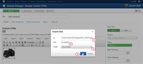 how to add template in joomla joomla 3 x how add image as hyperlink in custom html