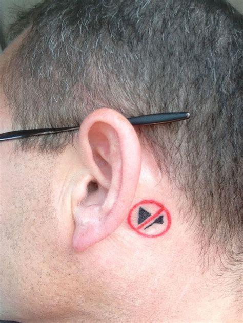 tattoo behind deaf ear mute symbol tattoo for deaf ear tattoos pinterest