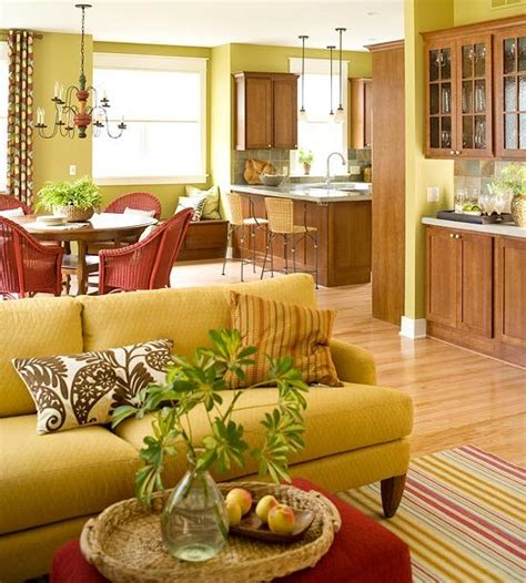happy colors for living room peenmedia com so warm and happy color theme in yellow green and red