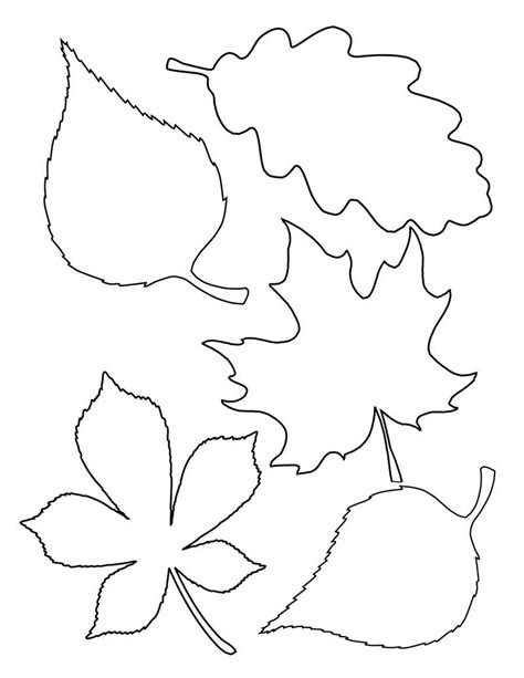 fall tree template 4 easy fall garlands simple shapes autumn colours and