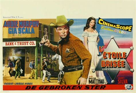 cowboy film makes hero a poser ride a crooked trail 1958 audie murphy hero of war