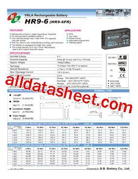 jp hr contact number hr9 6 datasheet pdf b b battery co ltd