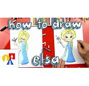 How To Draw Elsa From Frozen  YouTube