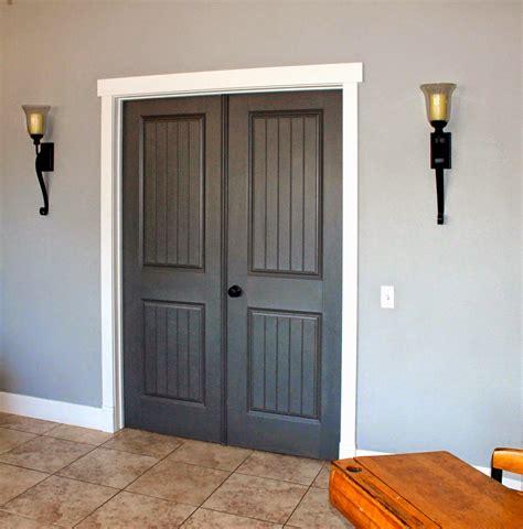 door trim living room pinterest door trims doors behr classic silver dark granite and silky white diy