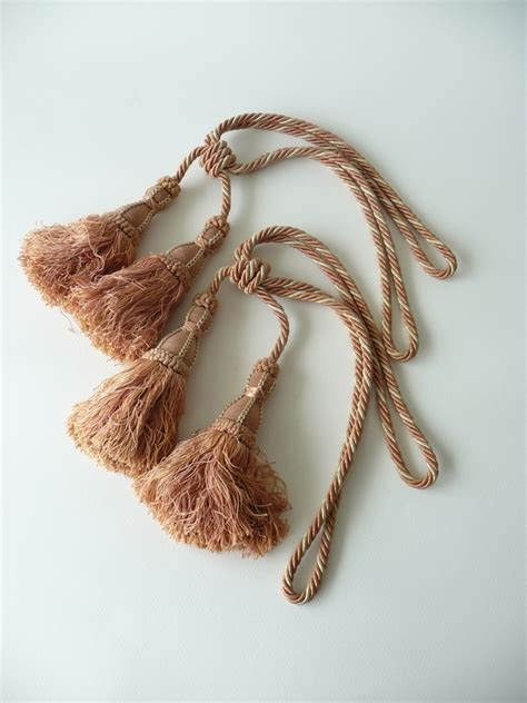 french curtain tie backs pair of vintage french pink curtain tassle tie backs