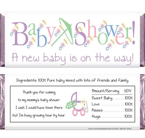 Personalized Bars For Baby Shower by Non Personalized Baby Shower Bar Wrappers