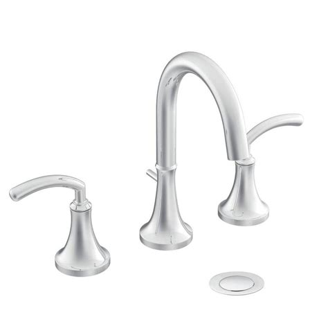 moen widespread bathroom faucet shop moen icon chrome 2 handle widespread watersense