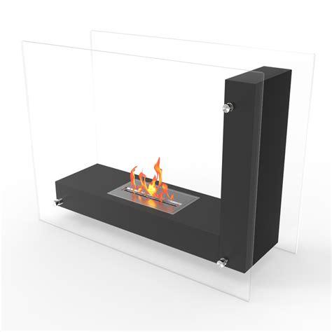 freestanding ventless gas fireplace avec ventless free standing ethanol fireplace in black