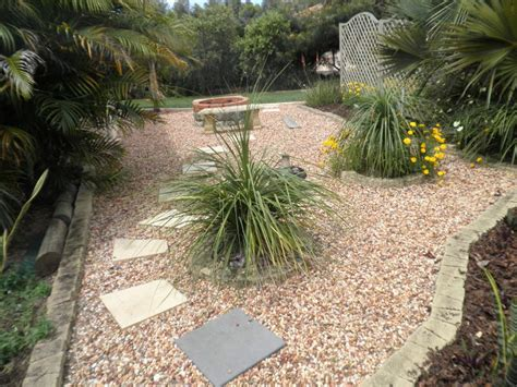 Pebble Rock Garden Designs Landscaped Garden Design Using Pebbles With Vegetable Patch Rockery Gardens Photo 182720