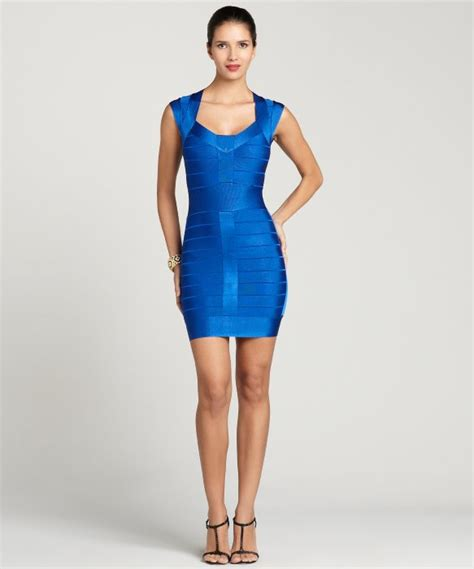 Blue Electric Dress connection electric blue spotlight knit dress in
