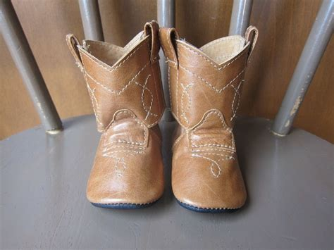 baby boots baby s 1st cowboy boots shoes in caramel brown leather