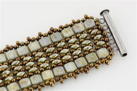 bead tile a simple two tile cuff bracelet eureka