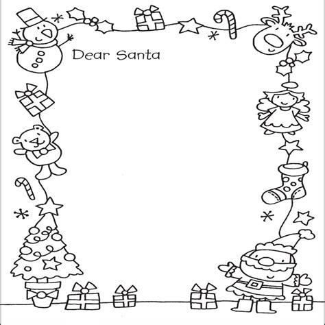 dibujos de navidad para colorear tamaño carta carta a santa claus para colorear buscar con google