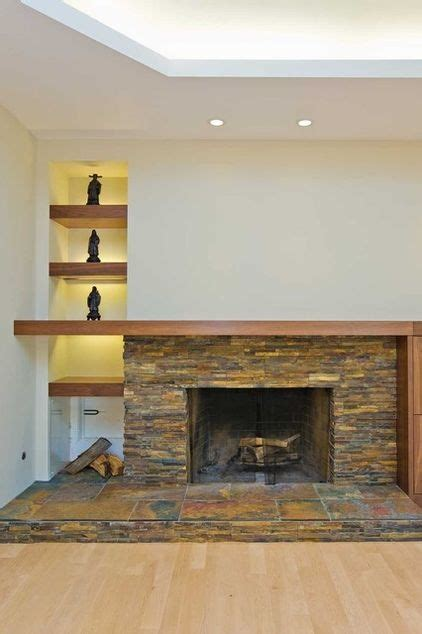 Asymmetrical Fireplace by 1000 Images About Asymmetrical Fireplace Mantels On
