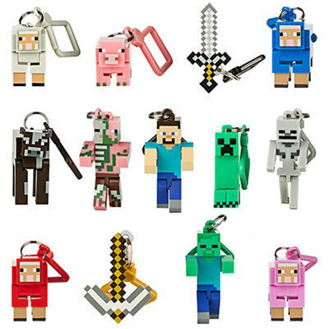 Bag Hanger 3d series 1 minecraft 3d keyring keychain belt bag hangers