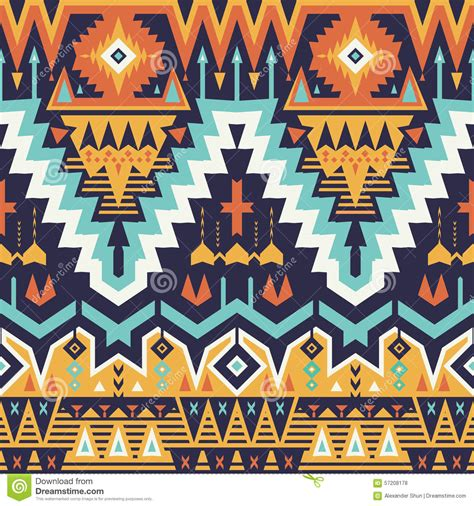 seamless tribal pattern vector free vector seamless tribal pattern stock vector image 57208178