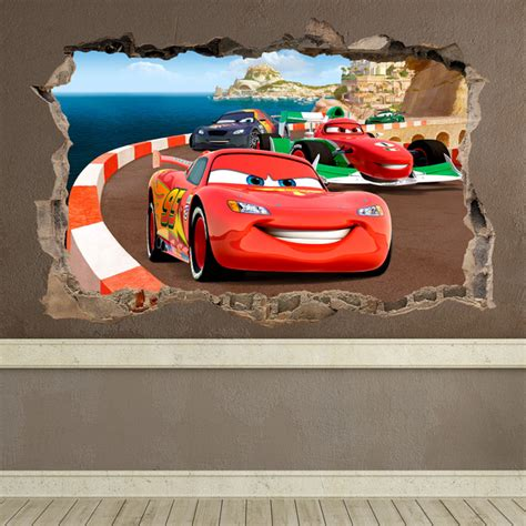 Disney Cars Wall Mural trou cars
