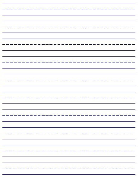 Printable Handwriting Paper | 6 best images of free printable handwriting paper free
