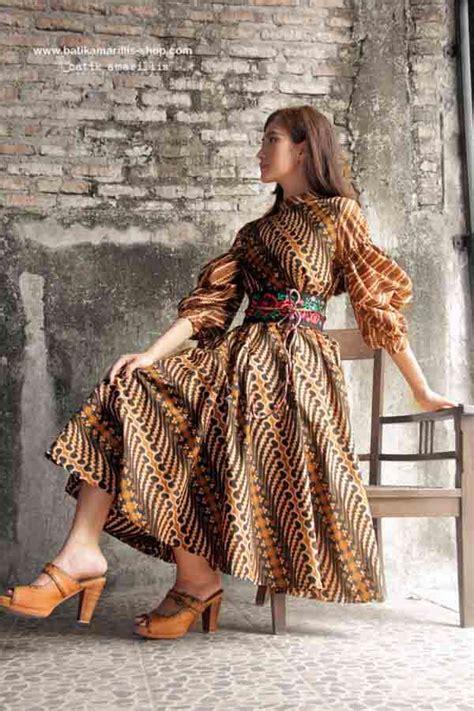 Darmi Rok Balon Skirt Batik batik amarillis made in indonesia batik amarillis s ildiko dress this 70ies inspired dress