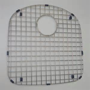 chrome stainless kitchen sink protector drainer grid