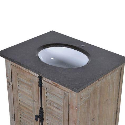 louvred door single sink bathroom vanity unit black marble