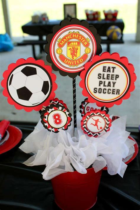 manchester united soccer party birthday party ideas