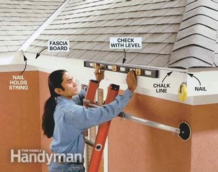 how to install gutters the family handyman