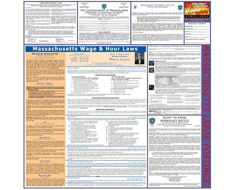massachusetts minimum wage massachusetts minimum wage state posters from