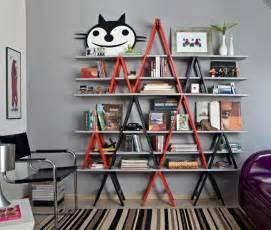Cubicle Bookshelf Diy Ladder Shelf Ideas Easy Ways To Reuse An Old Ladder