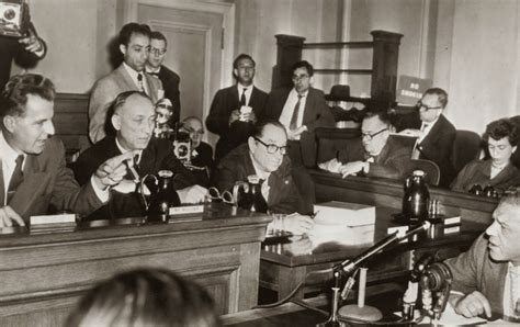 house hearings november 25 1947 the hollywood ten are blacklisted after refusing to testify to huac
