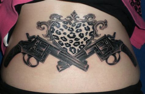 crossed revolvers tattoo 40 awesome pistol gun tattoos design made