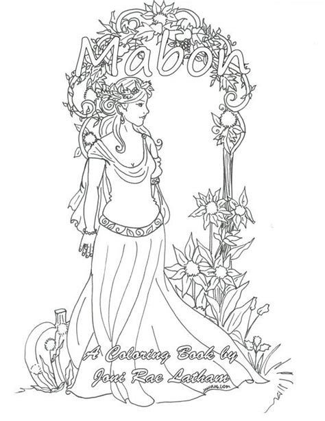 autumn equinox coloring page 188 best mabon autumn equinox pagan holiday images on