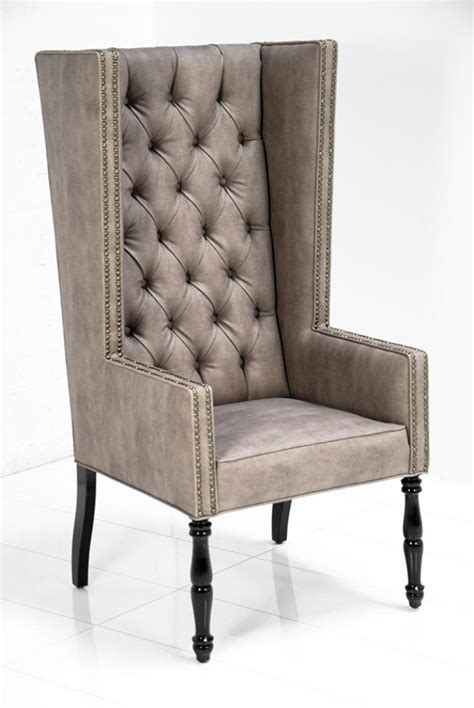 beige leather wingback chair www roomservicestore ultra mod wing dining